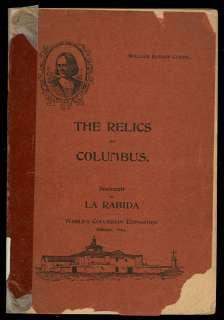 1893 CHICAGO WORLDS FAIR RELICS OF COLUMBUS @ LA RABIDA