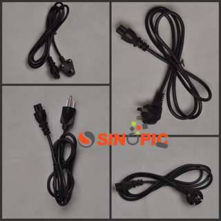 NEW EU 2 Prong Laptop Adapter Power Cord Cable Lead 2 Pin BLACK