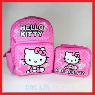 Hello Kitty 16 Stars and Polka Dot Backpack and Lunch Bag Set   Girls