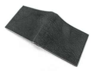 BLACK Shark Skin Leather Mens Bifold Wallet +