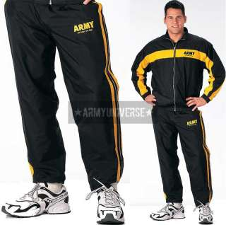 Black ARMY Warm Up Sweat Suit Pants