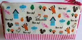 Bonjour Nice Day Animal Beauty Cosmetic MakeUp Bag / Pencil / Pen Case