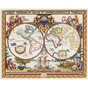 Stitch Kit, 15 Inch by 18 Inch, Olde World Map Arts, Crafts & Sewing