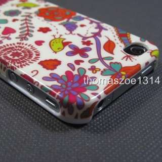 New Flower Vine Birds Floral Hard Case Cover Skin For Apple iPhone 4