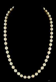 LOVELY 14K WHITE GOLD PEARL STRAND NECKLACE MODERN