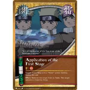 Naruto TCG Quest for Power J 214 Application of the First