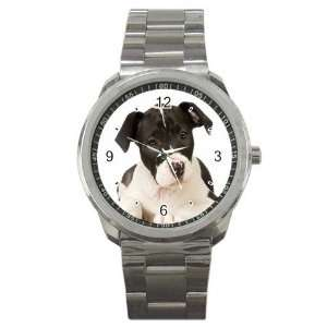 American Staffordshire Puppy Dog Sport Metal Watch EE0015