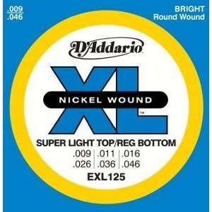 DAddario Electric Guitar Environmental XL Super Light Top