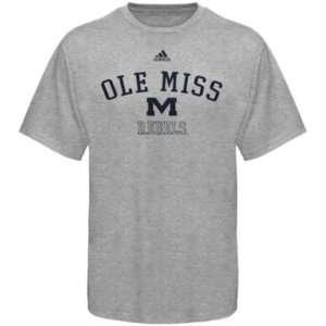 Ole Miss Rebels Adidas Grey Practice T Shirt sz XL