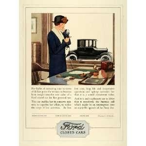 1924 Ad Ford Tudor Fordor Sedan Coupe Cars Woman Office
