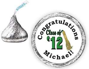 108 GRADUATION Tassel Class of 12 2012 Candy Kiss kisses Labels Party