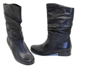 St. Johns Bay® Womens Slouch Leather Mid Calf Boots Black Size 8.5M