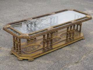 FAB Vintage GOLD Hollywood Regency ORNATE Coffee Table   SO COOL