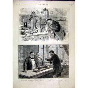 Pasteur Experiments 1885 Laboratory Rabbit Chloroformed
