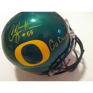Casey Matthews Autographed/Hand Signed Full Size Helmet Oregon Ducks