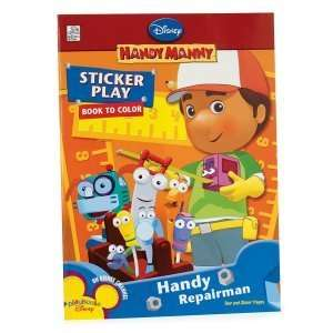 Handy Manny Sticker and Coloring Book with Crayons Toys & Games