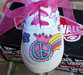 Custom Skater Painted Vans Shoe Girl Boy DBS Boutique