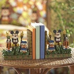 Disney Mickey Mouse Tiki Set Bookend Set Book Ends Goofy