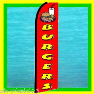 BURGERS 15 FT TALL Food Feather Swooper Banner Ad Flag