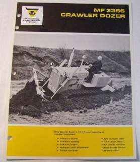 Massey Ferguson 1968 Crawler Dozer Sales Brochure
