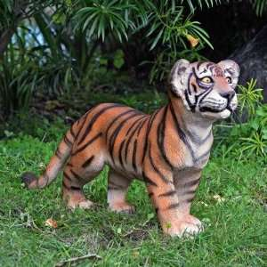 The Grand Scale Wildlife Animal Standing Tiger Cub Statue