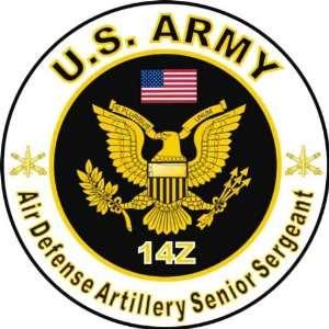 United States Army MOS 14Z Air Defense Artillery Senior Sergeant Decal