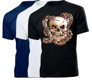American Biker / Skull / Totenkopf / Motorrad / Motiv T Shirt