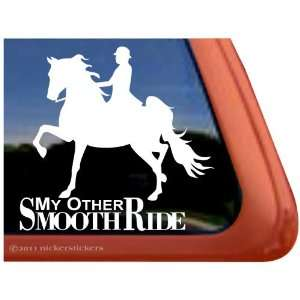 SMOOTH RIDE ~ Saddlebred Horse Trailer Vinyl Window Decal