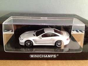 MINICHAMPS MERCEDES BENZ SL65 BLACK SERIES R230 METALLIC SILVER Rare