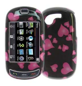 Samsung Gravity T Touch T669   HARD PHONE CASE COVER PINK HEART