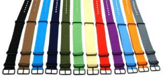 20MM PVD STRIPPED nylon NATO Watch Band Strap fits TIMEX WEEKENDER