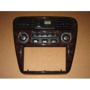 98 02 Honda Civic Accord Woodgrain Climate Control Bezel