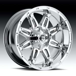 20 x 10 Fuel Hostage Chrome D530 5 6 8 Lug Wheels Rims