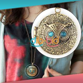 Fashion Charming New Lovely Style Retro Night Owl Pendant Necklace #1