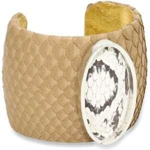 Rossi Urban Tribal Large Python Metal Oval Cuff Bracelet Jewelry