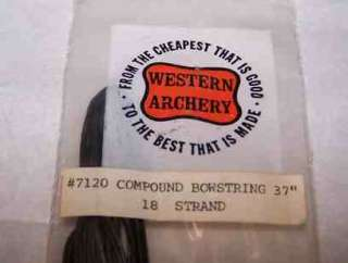 Western Archery COMPOUND BOWSTRING 37 Long 18 strand