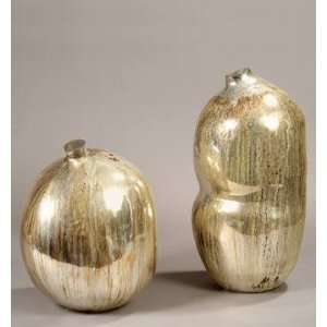 PC9850   Hand Blown Antique Silver Glass Vase