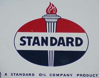 Vintage 1951 STANDARD RED CROWN Old Gas Pump PORCELAIN SIGN (EX++