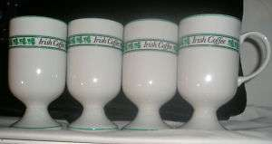Irish Coffee Mugs w handles set 4 Japan Excellent Cond