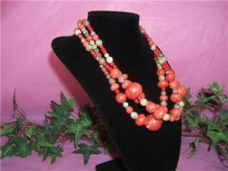 Jay King Mine Finds Jasper & Coral Beads Triple Strand Necklace New