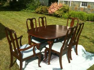 Ethan Allen Georgian court dining table/chairs