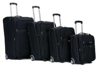 Rockland Presidential 4 Piece Luggage Set   Black $290