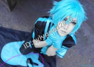 Vocaloid Mikuo Hatsune Miku male ver. BOB Blue Short Cosplay Party Wig