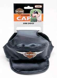 Harley Davidson Black Dog Canine Cap Hat Vinyl SM