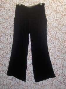 Womens Black Velvet VIVIENNE TAM Wide Leg Pants Size 8