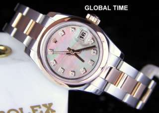 Rolex 179161 Rose Gold And Steel New Style Datejust BLACK MOP DIAMOND