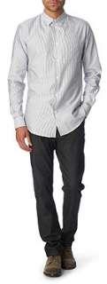 MAISON MARTIN MARGIELA Striped regular fit single cuff shirt