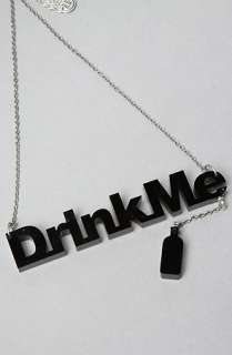 Disney Couture Jewelry The Alice Drink Me Necklace  Karmaloop