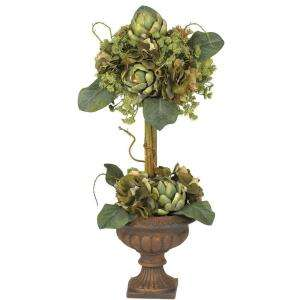 Nearly Natural Artichoke Topiary Silk Flower Arrangement 4633 at The