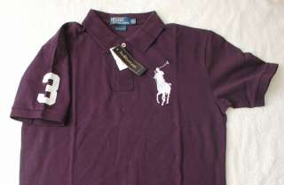 New Ralph Lauren Mens Big Pony Polo Shirt Purple NO.3